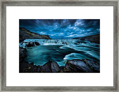 Waterfall Drama Framed Print
