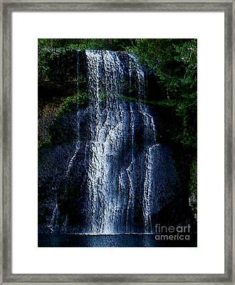 Waterfall Framed Print by Erica Hanel