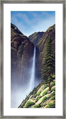 Waterfall Framed Print by Frank Wilson