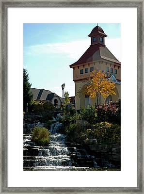 Framed Print featuring the photograph Waterfall Frankenmuth Mich by LeeAnn McLaneGoetz McLaneGoetzStudioLLCcom