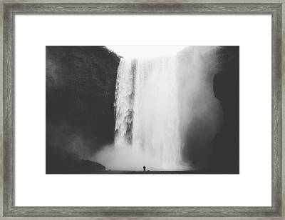 Waterfall Framed Print by Happy Home Artistry
