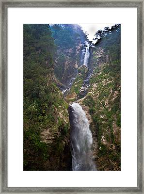 Waterfall Highlands Of Guatemala 1 Framed Print