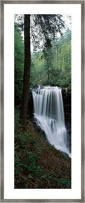 Waterfall In A Forest, Dry Falls Framed Print by Panoramic Images