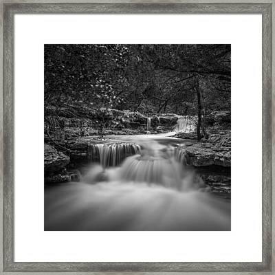 Framed Print featuring the photograph Waterfall In Austin Texas - Square by Todd Aaron