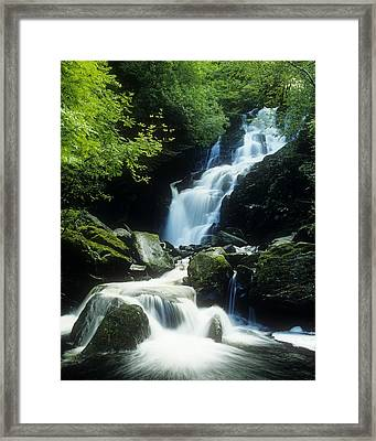 Waterfall In Killarney National Park Framed Print by The Irish Image Collection