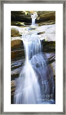Waterfall In Nh Framed Print
