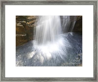 Waterfall In Nh Splash 3 Framed Print