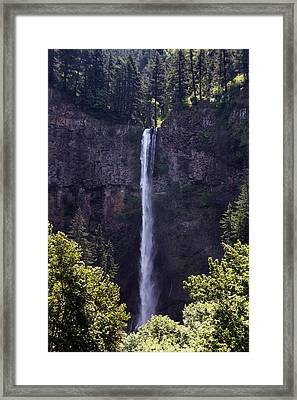 Waterfall In Washington Framed Print