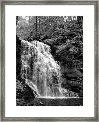 Waterfall Framed Print by Jessica Dandridge