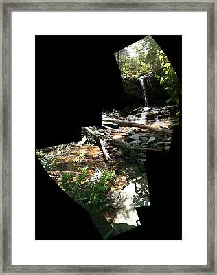 Framed Print featuring the photograph Waterfall by John Gibbs