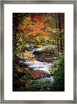 Framed Print featuring the photograph Waterfall Kaleidoscope  by Parker Cunningham