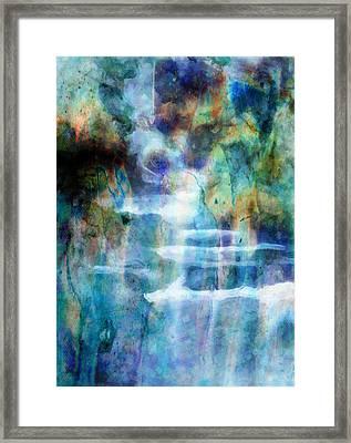 Waterfall Framed Print by Kathie Miller