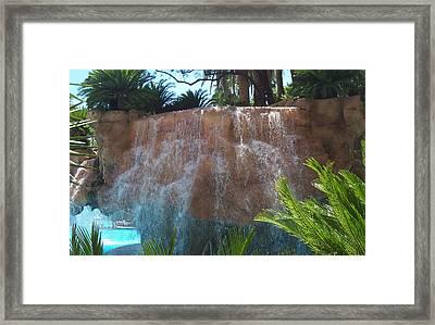 Waterfall Las Vegas Nevada Framed Print by Alan Espasandin