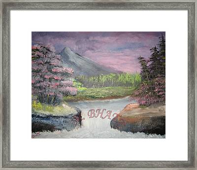 Waterfall Framed Print by M Bhatt