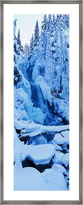 Waterfall, Manning Park, British Framed Print by Panoramic Images