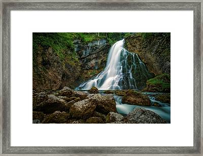 Waterfall Framed Print by Martin Podt