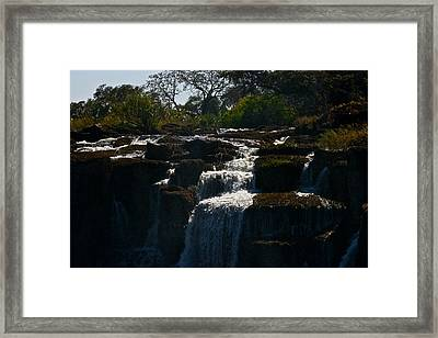 Waterfall Framed Print by Miranda  Miranda