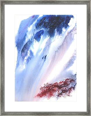 Waterfall Framed Print by Mui-Joo Wee