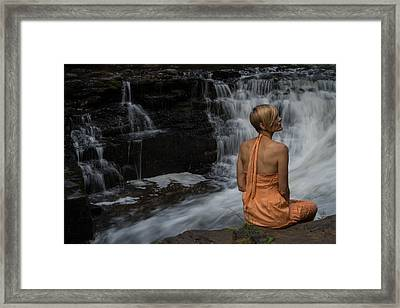 Waterfall Muse Framed Print by Tim Beebe