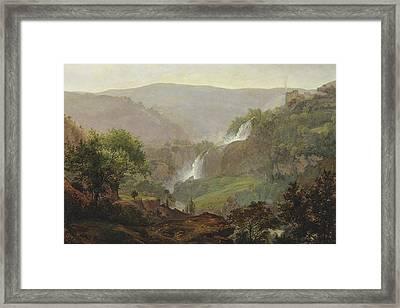 Waterfall Near Tivoli Framed Print