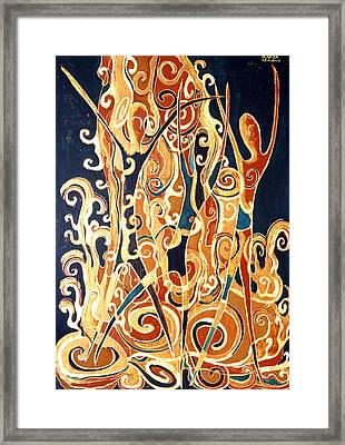 Waterfall Of A Golden Rain Framed Print by Aliza Souleyeva-Alexander