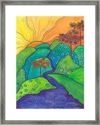 Waterfall Of Hope Framed Print
