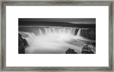 Waterfall Of The Gods Iceland Framed Print by Gunnar Orn Arnason