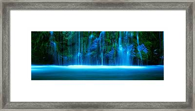 Waterfall On A Cliff, Mossbrae Falls Framed Print by Panoramic Images