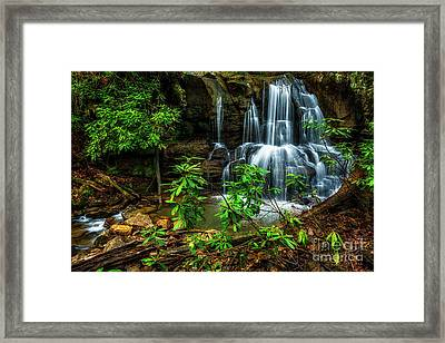 Framed Print featuring the photograph Waterfall On Back Fork by Thomas R Fletcher