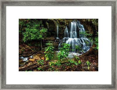 Waterfall On Back Fork Framed Print by Thomas R Fletcher