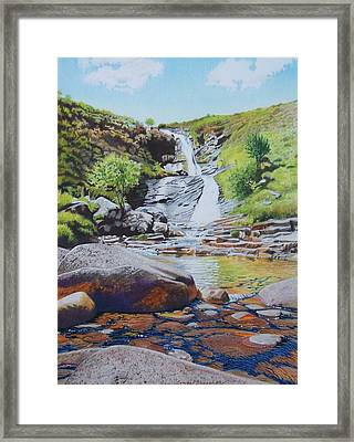 Waterfall On Skye 2 Framed Print