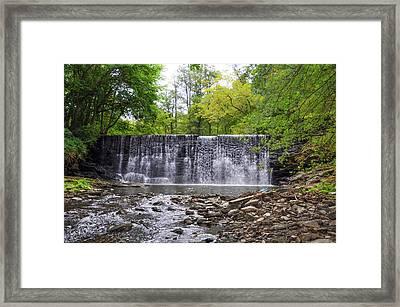 Waterfall On The Main Line - Gladwyne Pa Framed Print