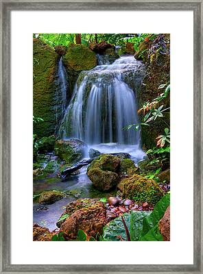 Waterfall Framed Print by Patti Sullivan Schmidt