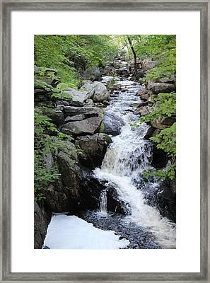 Waterfall Pillsbury State Park Framed Print
