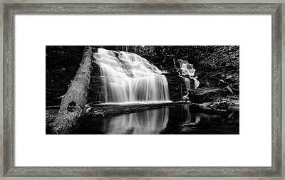 Waterfall Reflection Framed Print