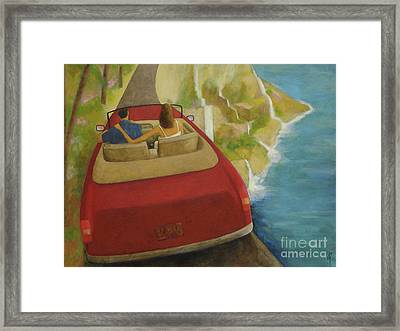 Waterfall Road Framed Print by Glenn Quist