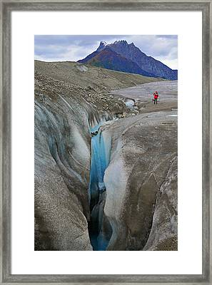Waterfall Root Glacier Framed Print