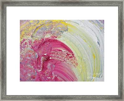 Waterfall In Pink Framed Print