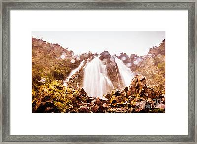 Waterfall Scenics  Framed Print