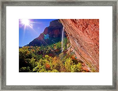 Framed Print featuring the photograph Waterfall by Scott Kemper