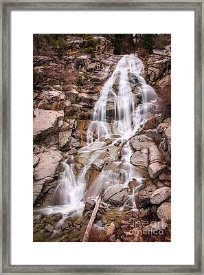 Framed Print featuring the photograph Horsetail Falls by Spencer Baugh
