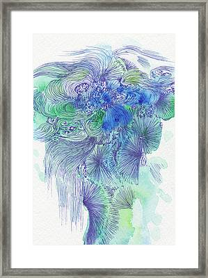 Waterfall - #ss16dw044 Framed Print by Satomi Sugimoto