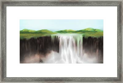 Waterfall Study 1 Framed Print by James Leonard