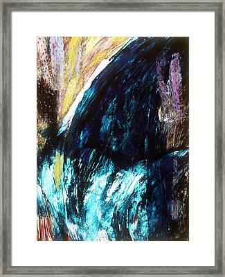Waterfall Framed Print by Sue Reed