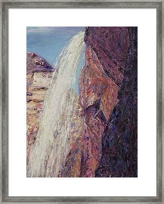 Waterfall Framed Print by Suzanne  Marie Leclair