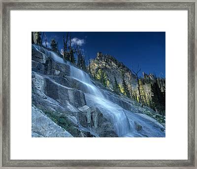 Waterfall Trail Framed Print