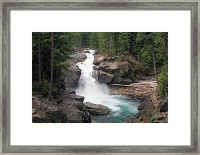 Waterfall Framed Print by Ty Nichols