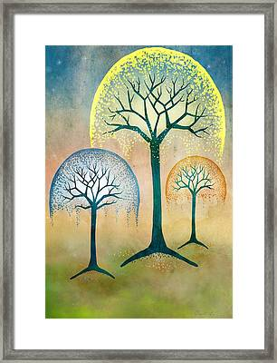 Waterfall Willows Framed Print by Little Bunny Sunshine