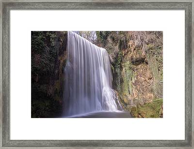 Waterfall With The Silk Effect Framed Print