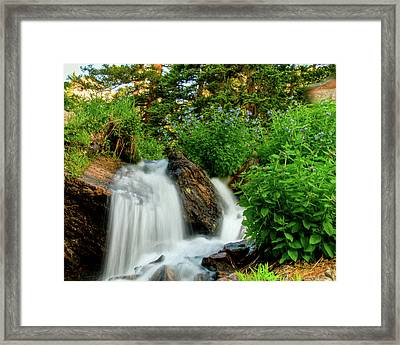Waterfalls Above Dream Lake Framed Print